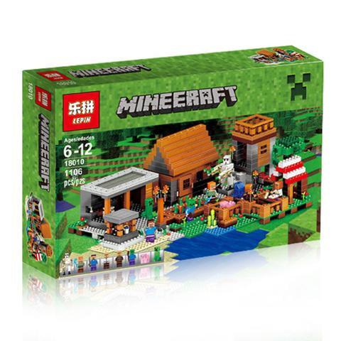 Коробка аналог Lego Minecraft Деревня | 21128 | LEGOREPLICA