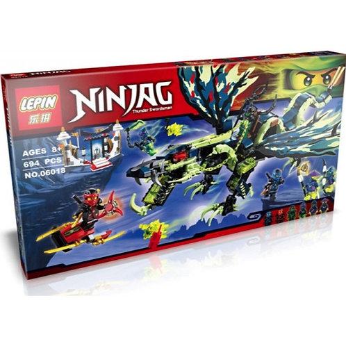 Коробка LEPIN Ninjago Атака Дракона Морро | 70736 | IQREPLICA