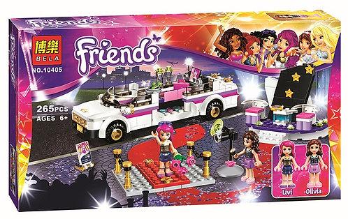 Коробка аналог Lego Friends Поп звезда: лимузин | 41107 | LEGOREPLICA