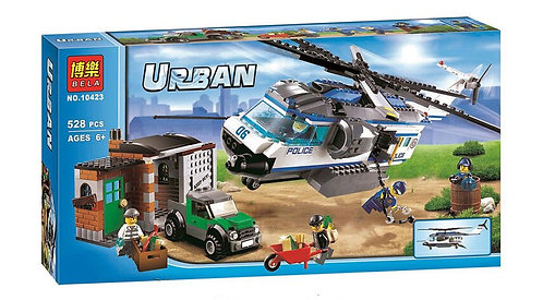 Коробка аналог Lego City Вертолётный патруль | 60046 | LEGOREPLICA
