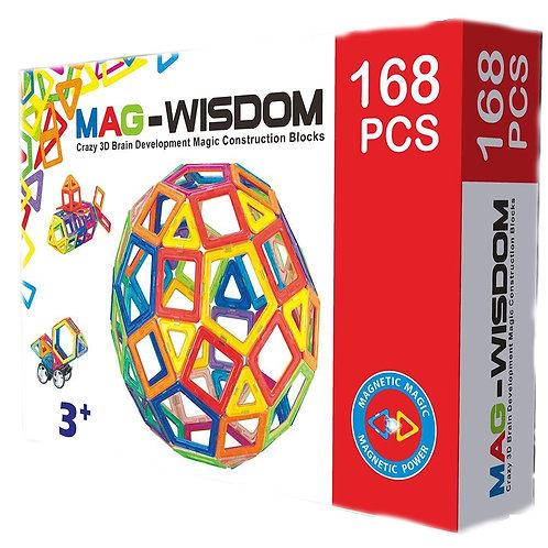 Магнитный конструктор Mag Wisdom Smart Set 168 деталей