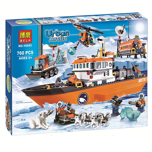 Коробка аналог Lego City Арктический ледокол | 60062 | LEGOREPLICA