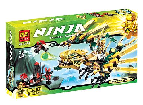 Коробка аналог Lego Ninjago Золотой дракон | 70503 | LEGOREPLICA