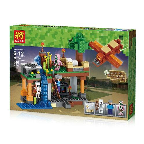 Коробка аналог Lego Minecraft Воздушная гавань с самолетом | LEGOREPLICA