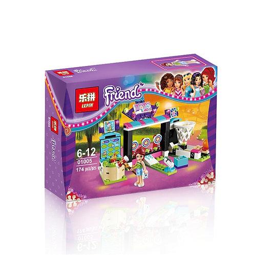 Коробка аналог Lego Friends Парк развлечений: игровые автоматы | 41127 | LEGOREPLICA