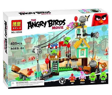 Коробка аналог Lego Angry Birds Разгром Свинограда | 75824 | LEGOREPLICA