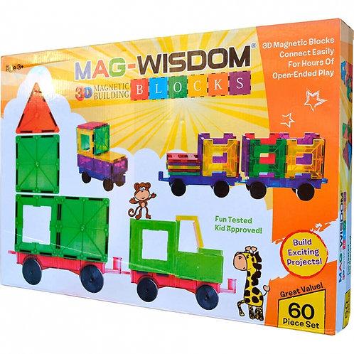 Магнитный конструктор Mag Wisdom 3D Blocks 60 деталей | LEGOREPLICA