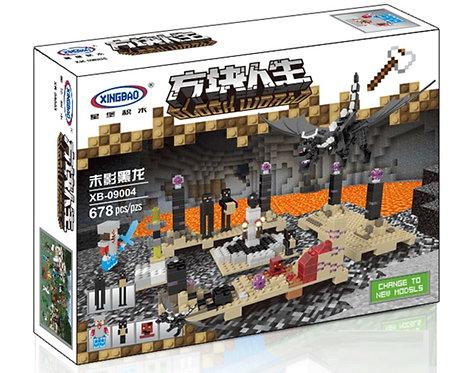 Коробка XINGBAO Minecraft MOC Черный дракон   IQREPLICA