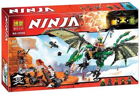 Коробка аналог Lego Ninjago Зелёный Дракон | 70593 | LEGOREPLICA