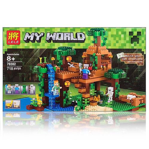 Коробка LELE Minecraft Домик на дереве в джунглях | 21125 | IQREPLICA