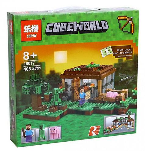 Коробка аналог Lego Minecraft Первая ночь | 21115 | LEGOREPLICA