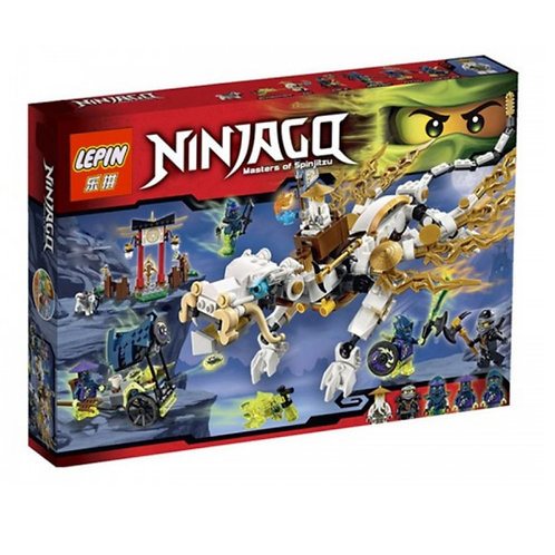 Коробка LEPIN Ninjago Дракон Мастера Ву | 70734 | IQREPLICA