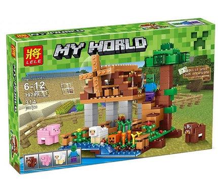 Коробка LELE Minecraft Ветряная мельница на ранчо | IQREPLICA