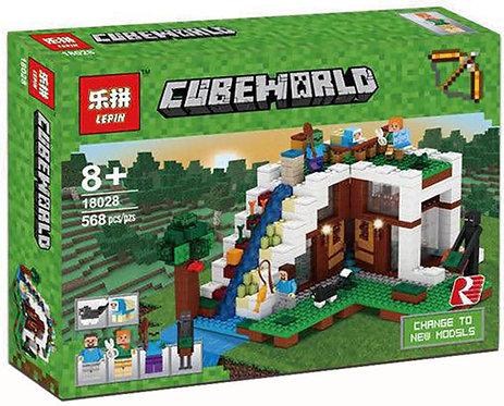 Коробка аналог Lego Minecraft База на водопаде   21134   LEGOREPLICA