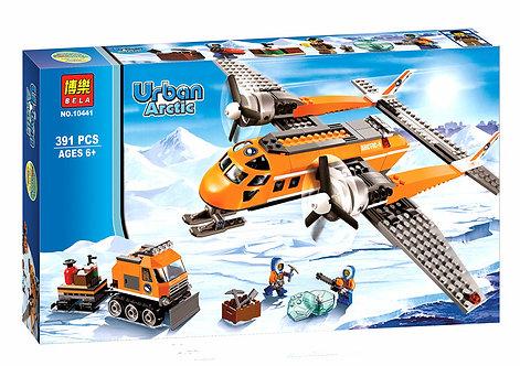 Коробка аналог Lego City Арктический транспортный самолет | 60064 | LEGOREPLICA
