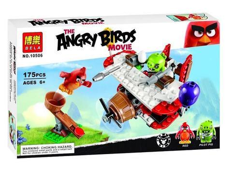 Коробка BELA Angry Birds Самолётная атака свинок | 75822 | IQREPLICA
