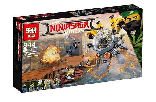 Коробка LEPIN Ninjago Series Летающая субмарина «Медуза» | 70610 | IQREPLICA