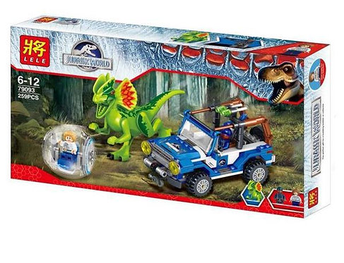Коробка LELE Jurassic World Засада на Дилофозавра | 75916 | IQREPLICA