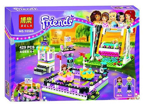 Коробка аналог Lego Friends Парк развлечений: аттракцион автодром   41133   LEGOREPLICA