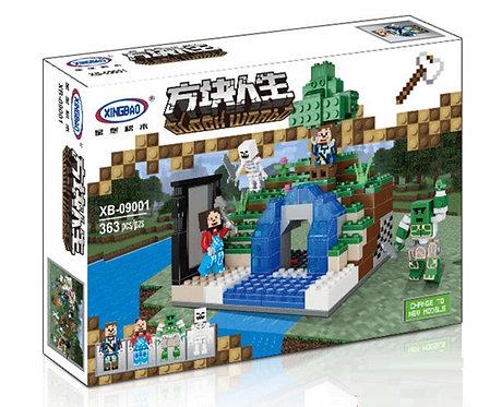 Коробка XINGBAO Minecraft MOC Таинственная подводная пещера | IQREPLICA