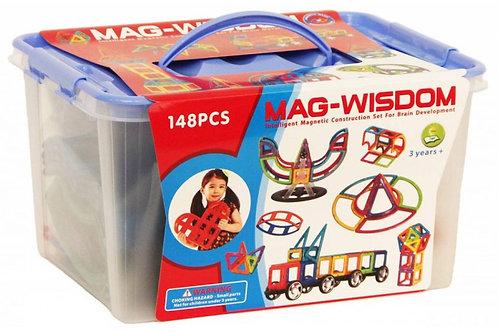 Магнитный конструктор Mag Wisdom Brain up 148 деталей | LEGOREPLICA