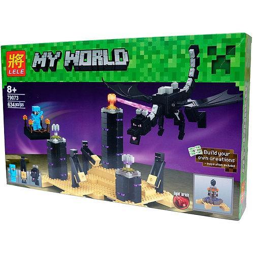 Коробка LELE Minecraft Дракон Края | 21117 | IQREPLICA