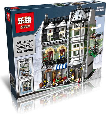 Коробка аналог Lego Creator Зеленая Бакалейная Лавка | 10185 | LEGOREPLICA