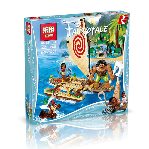 Коробка аналог Lego Disney Путешествие Моаны через океан | 41150 | LEGOREPLICA