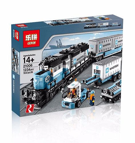 Коробка аналог Lego Creator Грузовой Поезд Маерск   10219   LEGOREPLICA