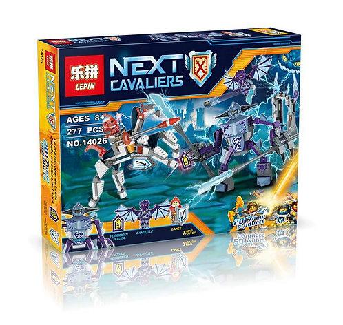 Коробка аналог Lego Nexo Knights Ланс против Монстра-Молнии | 70359 | LEGOREPLICA