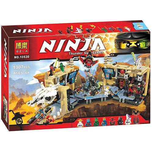 Коробка аналог Lego Ninjago Самурай Х: битва в пещерах | 70596 | LEGOREPLICA