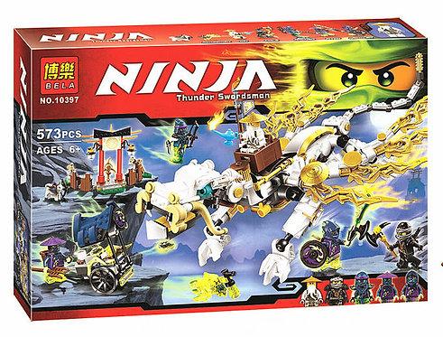 Коробка аналог Lego Ninjago Дракон Мастера Ву | 70734 | LEGOREPLICA
