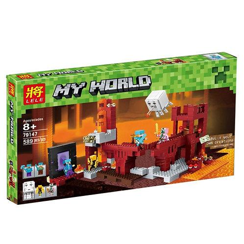 Коробка аналог Lego Minecraft Подземная Крепость | 21122 | LEGOREPLICA
