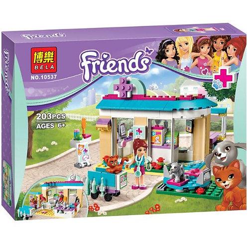 Коробка аналог Lego Friends Ветеринарная клиника | 41085 | LEGOREPLICA