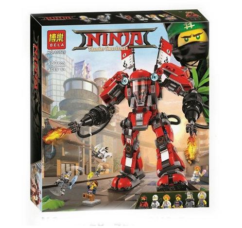 Коробка BELA Ninjago Series Огненный робот Кая   70615   IQREPLICA