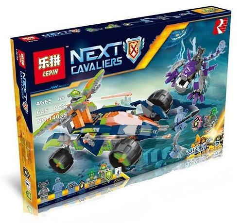 Коробка аналог Lego Nexo Knights Вездеход Аарона 4x4 | 70355 | LEGOREPLICA