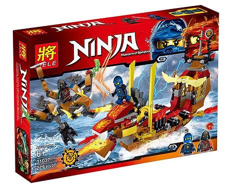Коробка LELE Ninjago Драккар ниндзя   IQREPLICA