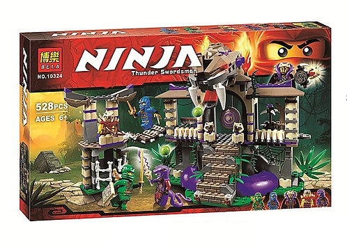 Коробка аналог Lego Ninjago Храм Клана Анакондрай   70749   LEGOREPLICA
