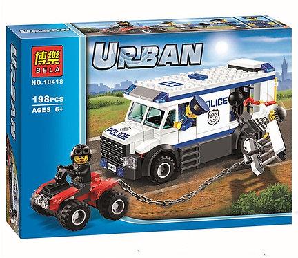 Коробка аналог Lego City Автомобиль для перевозки заключённых   60043   LEGOREPLICA