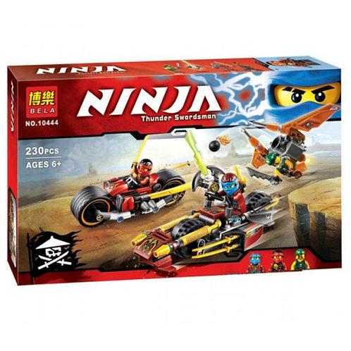 Коробка аналог Lego Ninjago Погоня на мотоциклах | 70600 | LEGOREPLICA