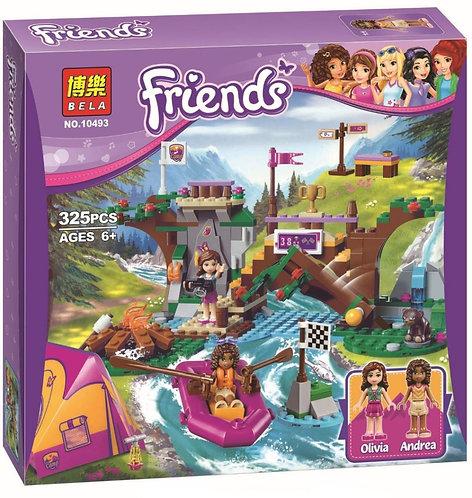 Коробка аналог Lego Friends Спортивный лагерь: сплав по реке | 41121 | LEGOREPLICA
