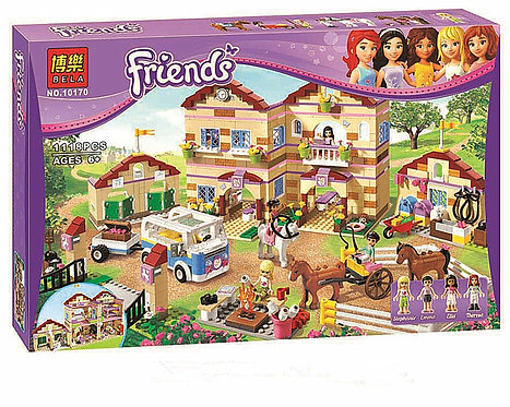 Коробка аналог Lego Friends Школа верховой езды | 3185 | LEGOREPLICA