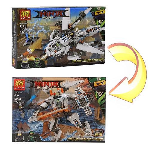 Конструктор LELE Самолет и робот ниндзя