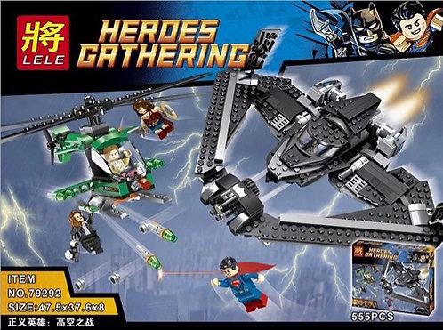 Коробка LELE Super Heroes Поединок в небе | 76046 | IQREPLICA