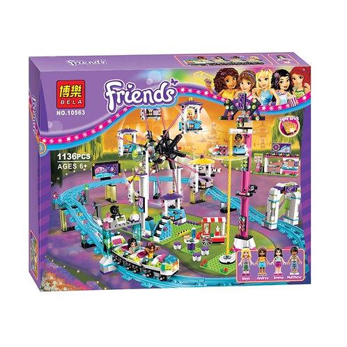 Коробка аналог Lego Friends Парк развлечений: американские горки | 41130 | LEGOREPLICA