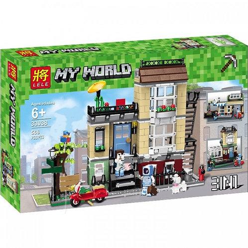 Коробка LELE Minecraft Домик в пригороде 3 в 1   31065   IQREPLICA