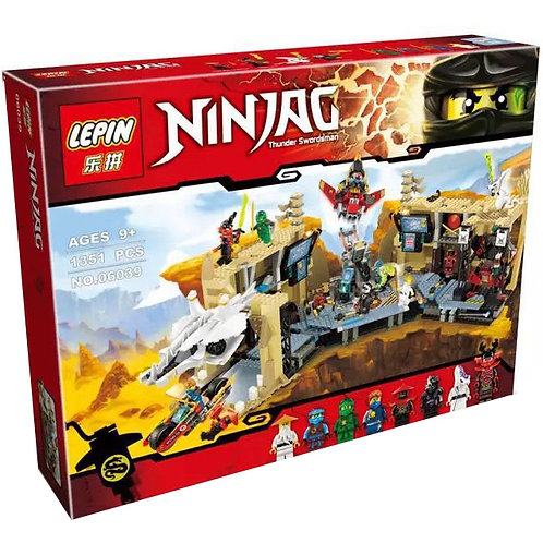 Коробка LEPIN Ninjago Самурай Х: битва в пещерах | 70596 | IQREPLICA