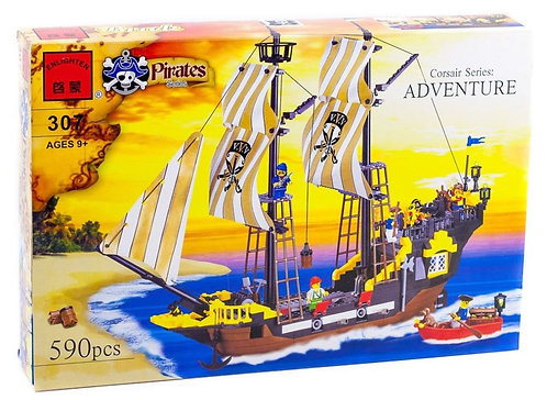 Коробка BRICK Pirates Корабль путешественников «Приключение»   IQREPLICA