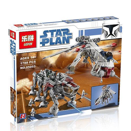 Коробка аналог Lego Star Wars Десантный Корабль Республики с AT-OT Шагоходом   10195   LEGOREPLICA