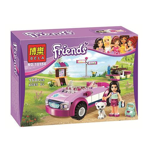 Коробка аналог Lego Friends Спортивный автомобиль Эммы | 41013 | LEGOREPLICA